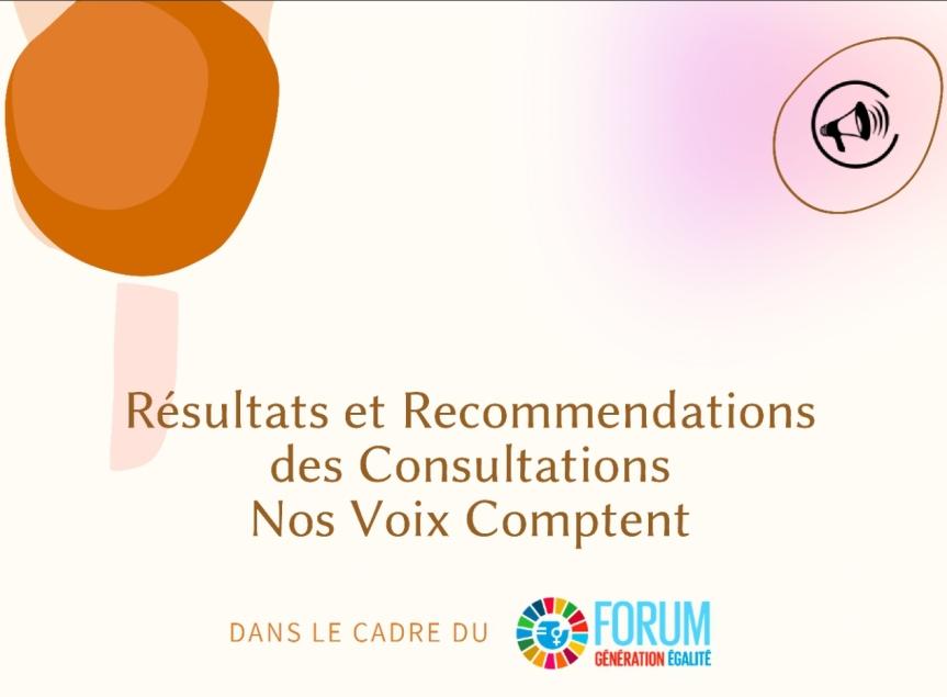 Consultations Nos Voix Comptent : le rapport est disponible!