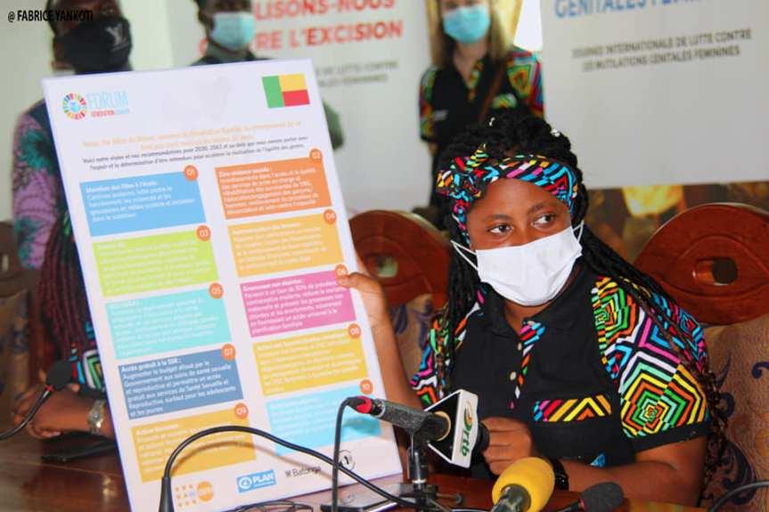 Messages clés des Filles du Bénin dans le cadre du Forum GénérationÉgalité