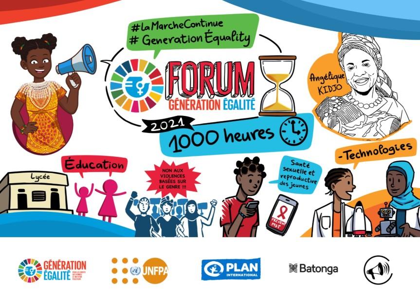 Pour les filles du Bénin, une vision commune dans le cadre du Forum Génération Égalité deParis