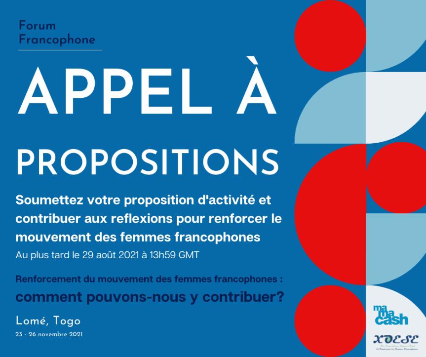 Appel à propositions pour une session au Forum International Francophone lancé par le Fonds XOESE et MamaCash