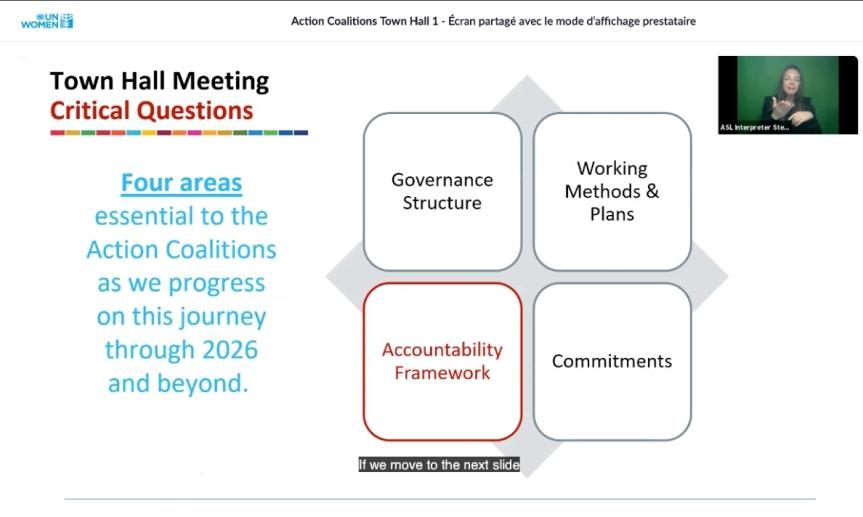 Compte rendu de l'assemblée générale sur les coalitions d'actions du Forum GénérationÉgalité