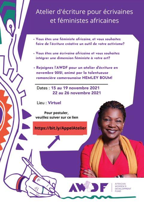 Appel à candidatures de AWDF pour un atelier d'écriture à l'endroit des écrivaines et féministesafricaines